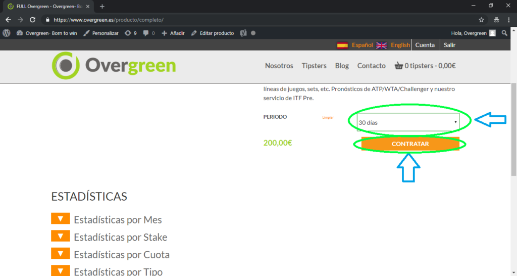 Tipster con overgreen