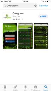 aplicación overgreen
