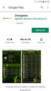 aplicación móvil overgreen