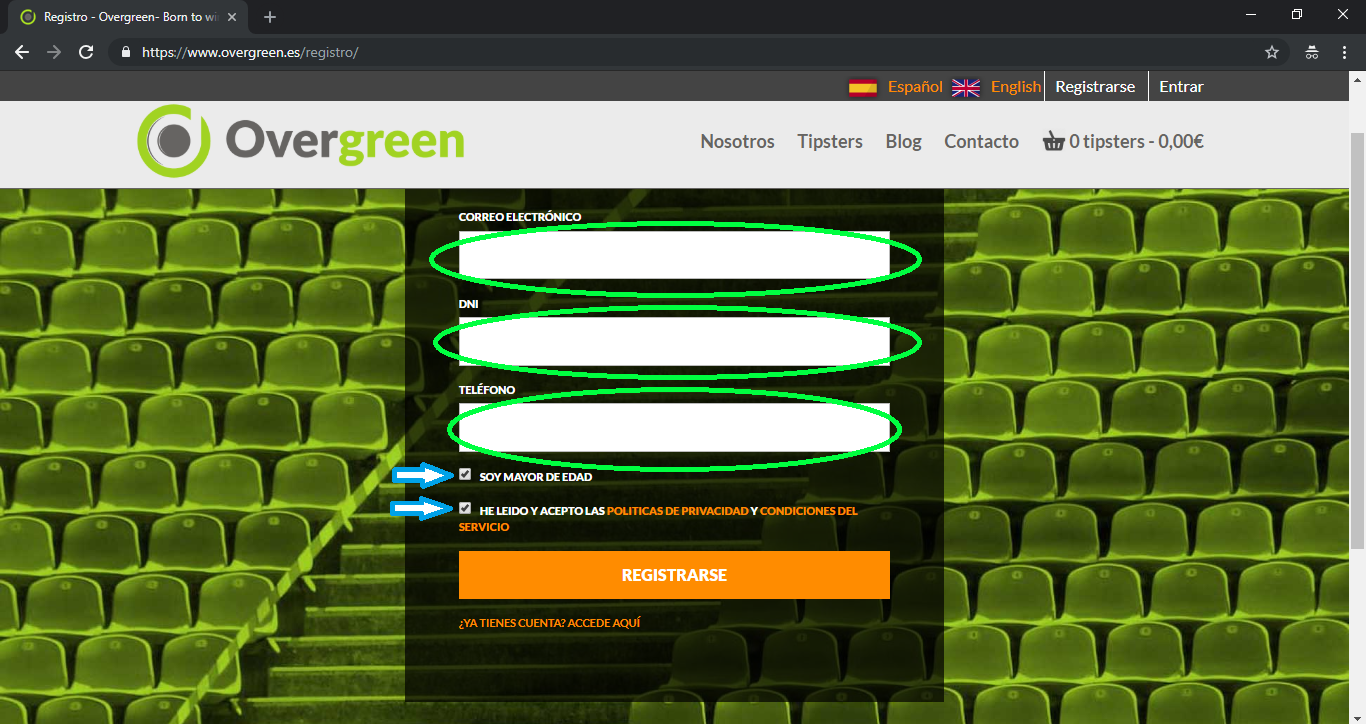 registro en overgreen